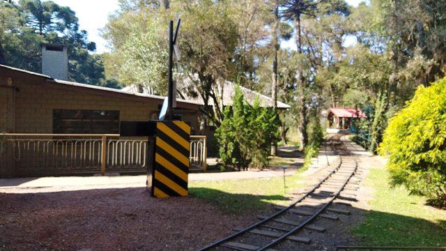 Passeio de trem no Parque Temático Mundo a Vapor, em Canela