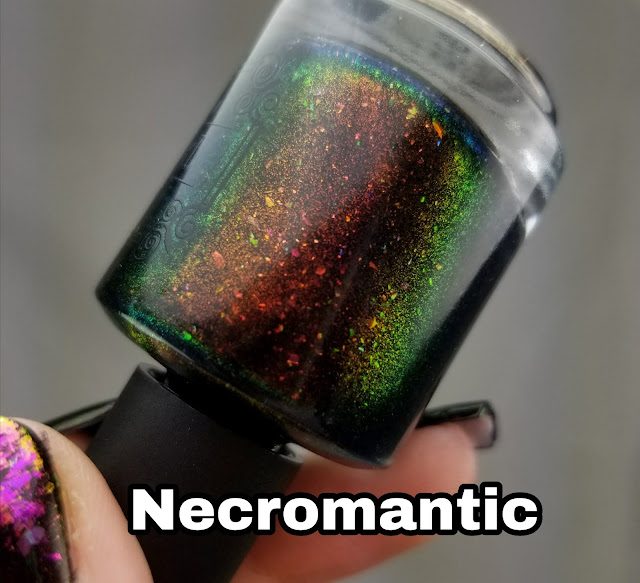 Tonic Polish Necromantic, unicorn pee nail polish, black polish