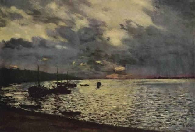 Исаак Ильич Левитан - Пасмурный день на Волге. 1888