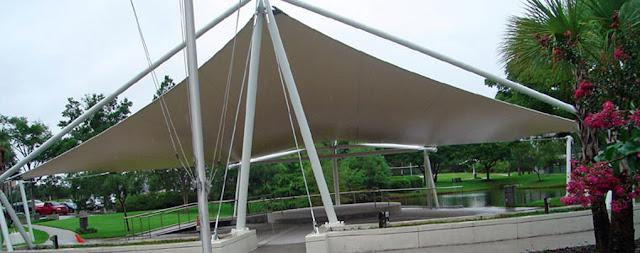 tenda membrane taman kota