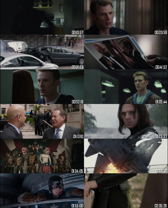 Captain America The Winter Soldier 2014 BRRip 720p 480p Dual Audio Hindi English Full Movie Download
