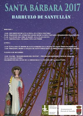 Cartel de fiestas de Santa Bárbara 2017 en Barruelo de Santullán