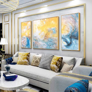 3 Panel Large Abstract Oil Painting Wall Art