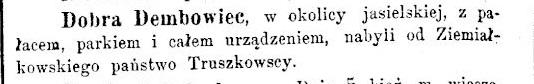 Dębowiec 1892
