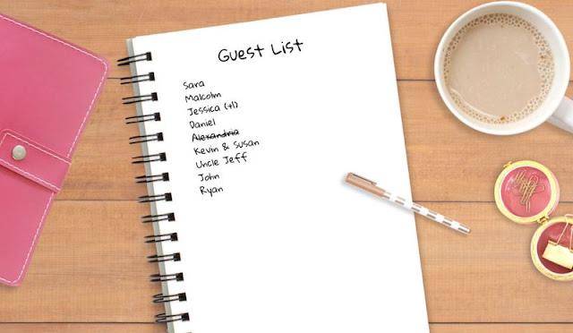 Bachelorette Party Guest List