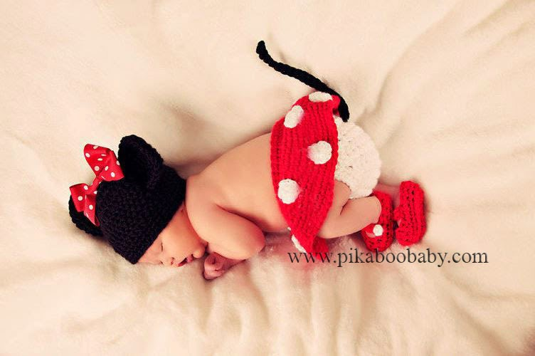 Crochet Minnie Mouse Outfit Chd013 Pikaboo Baby Shop