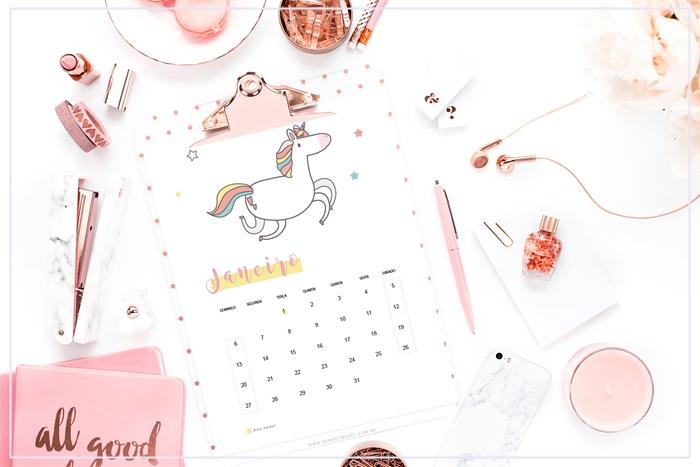 calendar 2019 unicorn