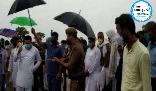 नेता प्रतिपक्ष तेजस्वी यादव ने किया बाढ़ प्रभावित क्षेत्रों का दौरा