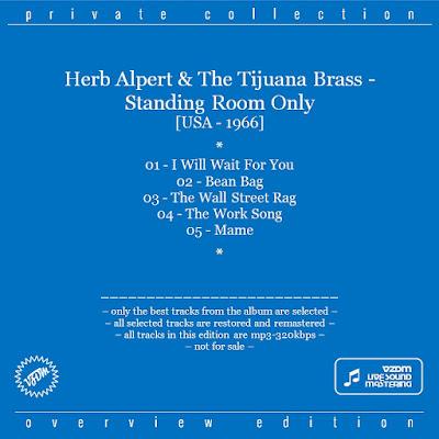 Herb Alpert & The Tijuana Brass - Standing Room Only (1966)