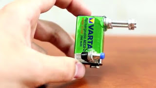Korek Elektrik dari Baterai 9v Buatan Senidiri