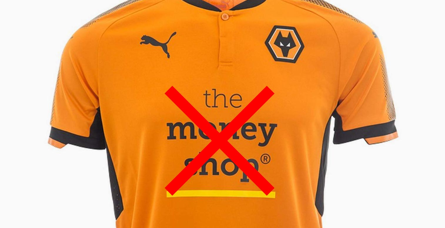 save off c8e36 36964 Wolves to Ditch Controversial Shirt Sponsor for Premier ...