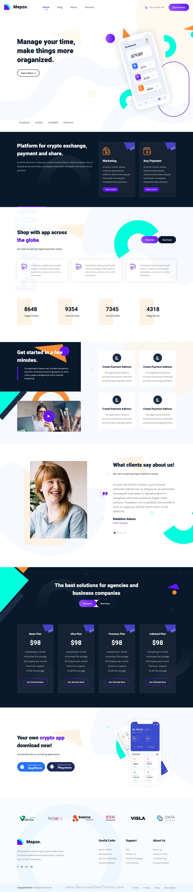Mobile App Responsive Landing Page Template