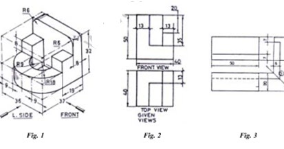 Engineering Drawing and Graphics, Question Paper of BE 1