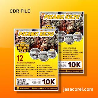 Download Brosur CDR Bisa di Edit - Pisang Keju
