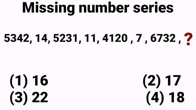 missing  number series questions for SBI PO with solution