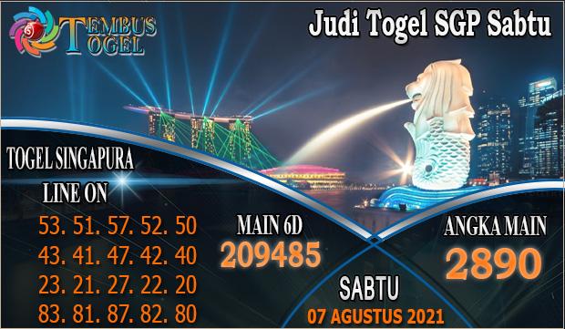 Judi Togel SGP Sabtu, Tembus Togel Tanggal 04 Agustus 2021