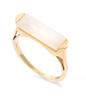 The Best Jewellery Buys from the High Street this SS16 - Oliver Bonas - Repos Rectangular Stone Ring - £32.00