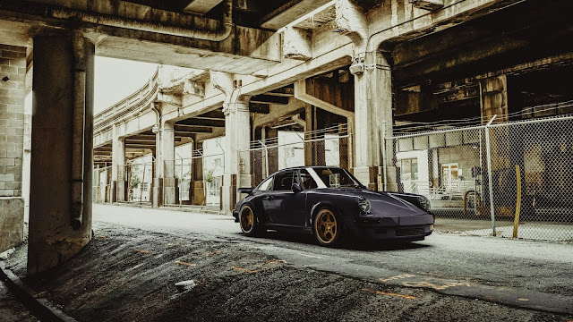 Porsche, Preto, Antigo, Vintage, Carro