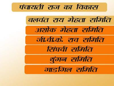 पंचायती राज का विकास | पंचायती राज  से संबन्धित समितियां | Bharat Me Panchayti Raj Ka Vikas