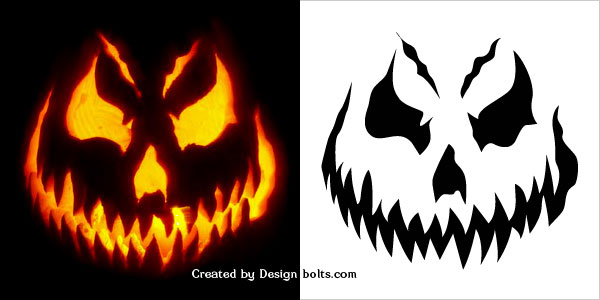 scary jack o lantern face template - free pumpkin carvings stencils designs ideas for halloween