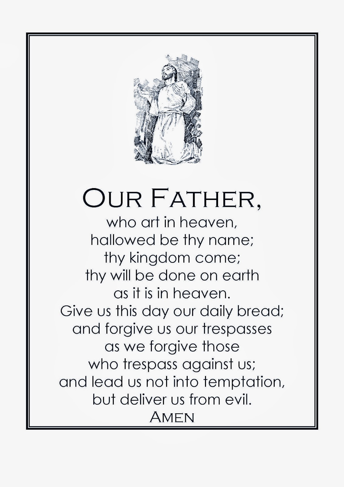 English For Primary Students Our Father Prayer