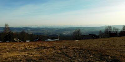 Panorama Tatr z Polany Surówki.