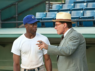 42 movie about Jackie Robinson starring Chadwick Boseman Harrison Ford