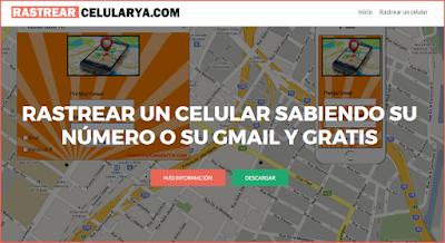 web para rastrear celular