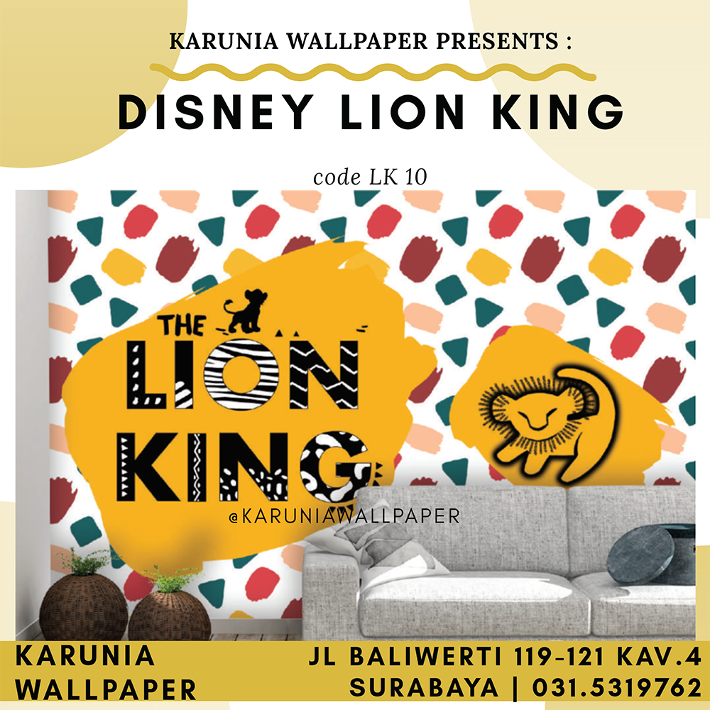 jual wallpaper dinding disney lion king simba