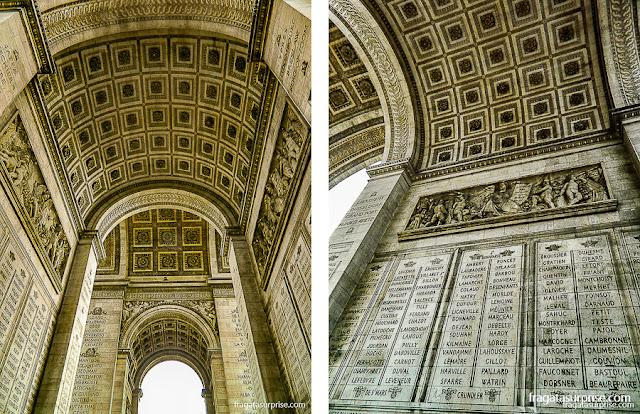 Inscrições no Arco do Triunfo, Paris