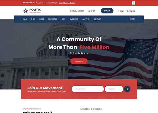Politik Best Political WordPress Themes 2020