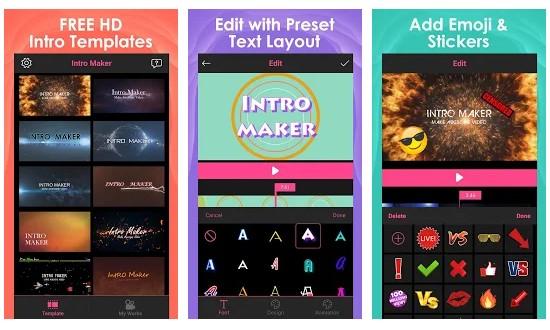 Aplikasi membuat intro Youtube melalui Android
