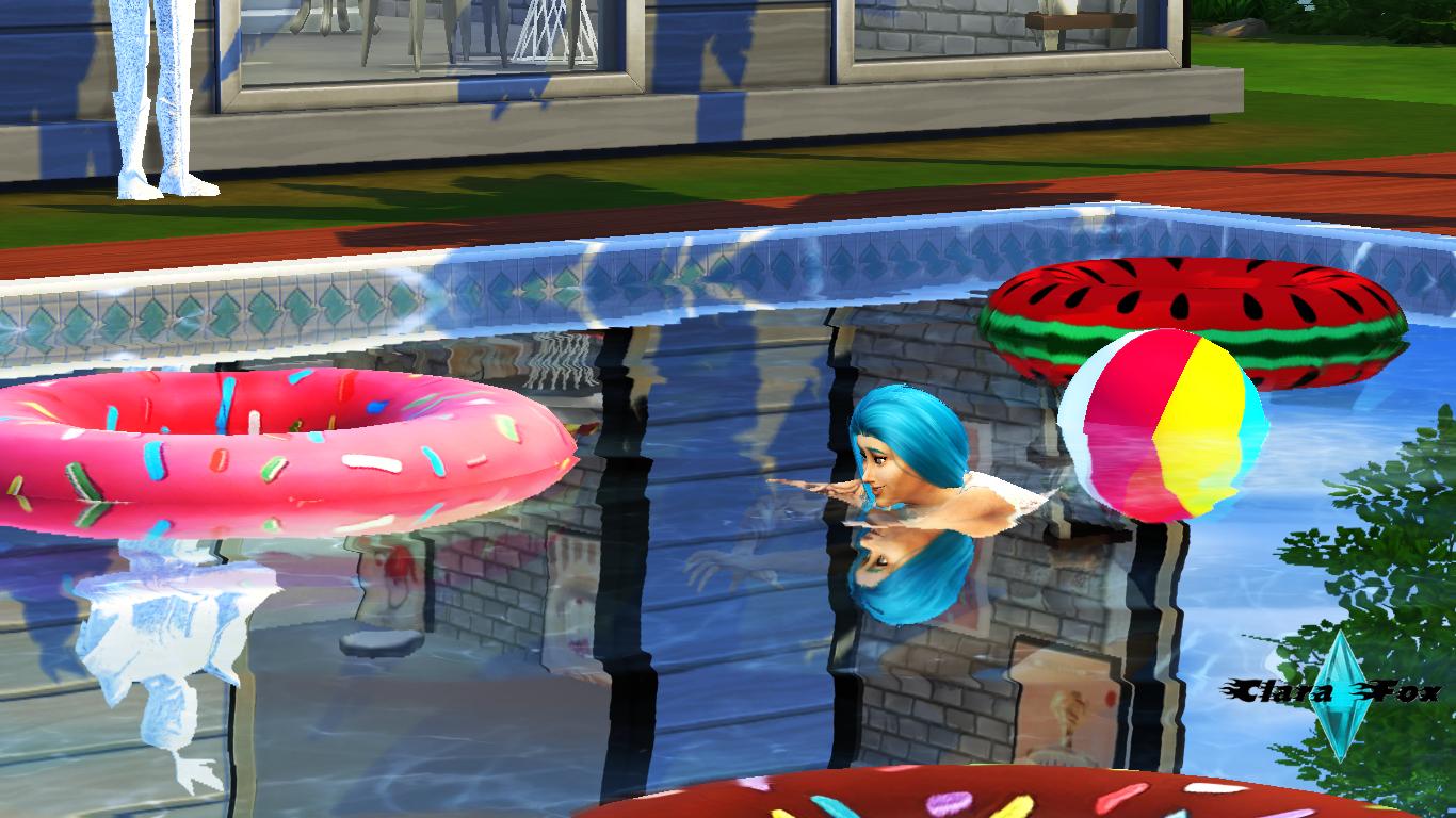The sims 4 piscina tudo azul for Piscina sims 4