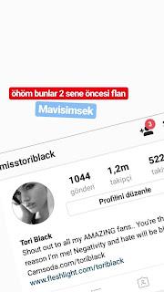 Ayda Kutay, Ayyıldız Tim, Avatar Atakan, Miss Tori Black, Resmi Instagram,instagram Hesapları Hacked