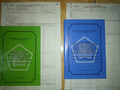contoh gambar formulir pajak beserta manual cara pengisian  Hijau (Orang Pribadi) Biru (Badan)