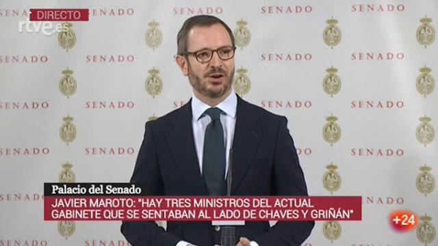 """Maroto: Maroto: """"Pediremos la comparecencia urgente de Sánchez en el Senado para que explique la posible implicación de tres de los actuales ministros en el caso de los ERE"""""""