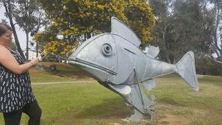 Wanda the Silver Red-fin Perch   Boddington Sculpture