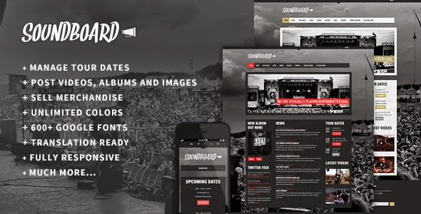 Soundboard v3.0 - a Premium Music WordPress Theme