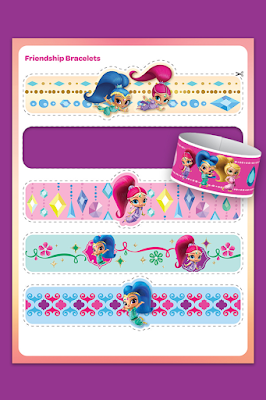 Shimmer and Shine printable bracelets