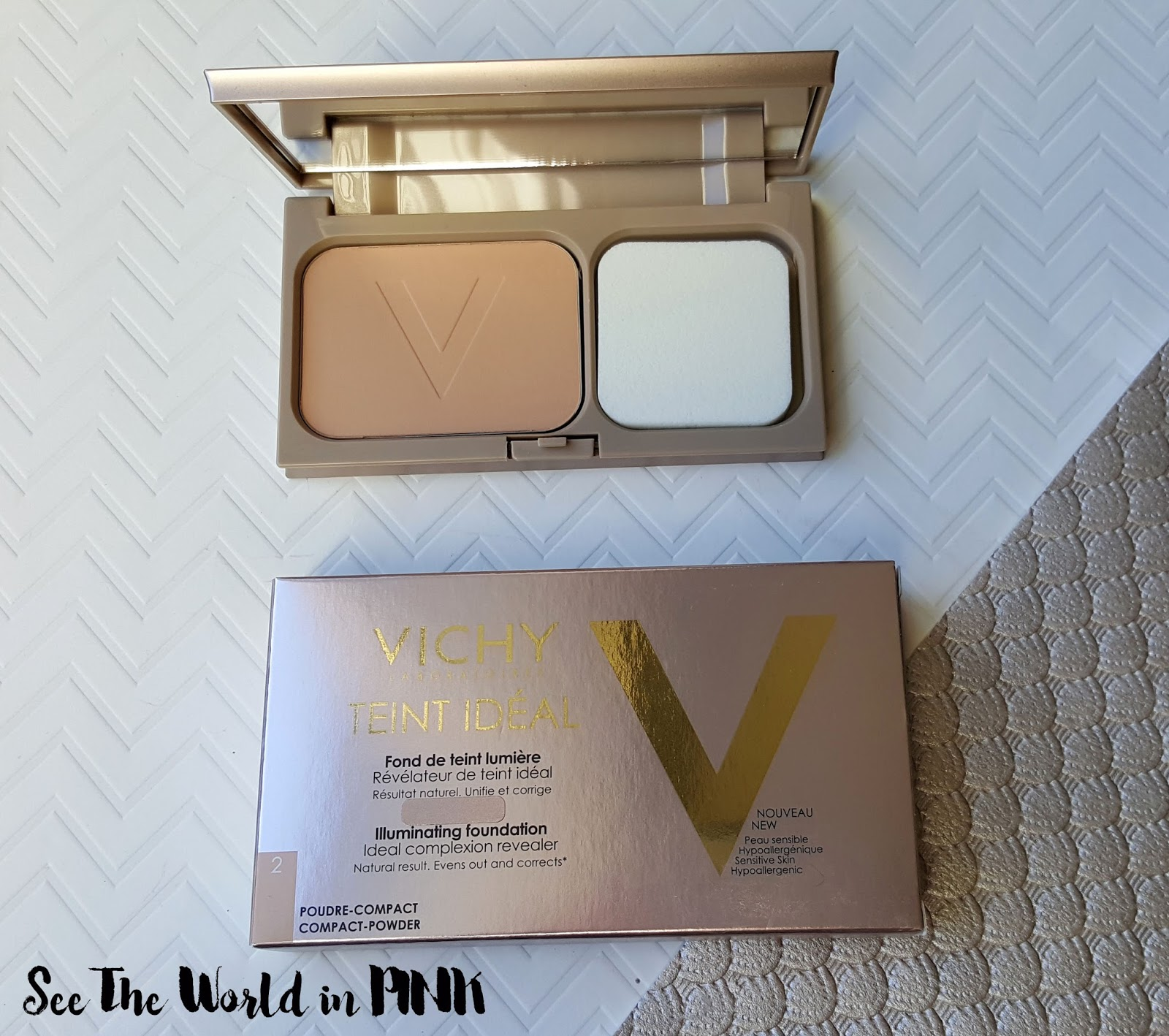 Vichy Teint Ideal Makeup - Swatches and Reviews!  compact powder