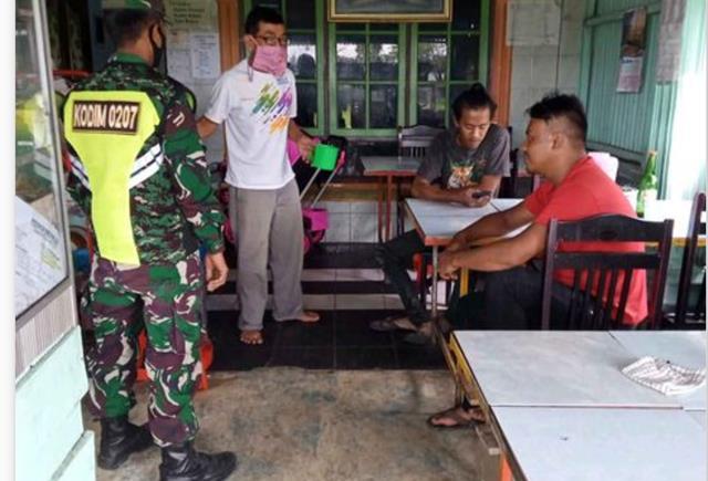Memutus Rantai Penyebaran Covid-19 DIlakukan Personel Jajaran Kodim 0207/Simalungun Diwilayah Binaan