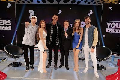 Viih Tube, Christian Figueiredo, T3ddy, Raul Gil e Giovanna Chaves (Foto: Rodrigo Belentani)