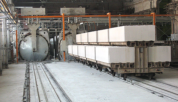 Manufacturing of aerated concrete