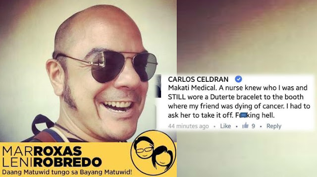 Carlos Celdran Earns Ire of Netizens after Asking Makati Med Nurse to Remove Duterte Bracelet