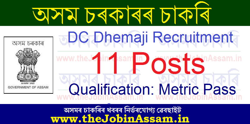 DC Dhemaji Recruitment 2021: Apply for 11 Mandal Vacancies