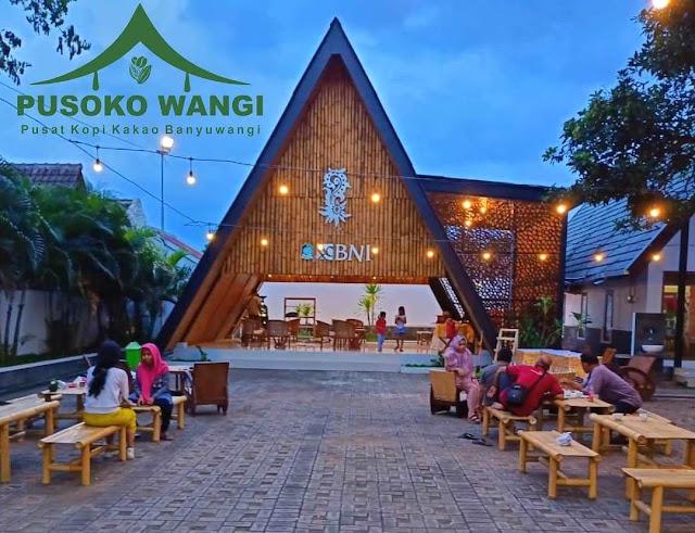 Nongkrong di Pusoko Wangi pusat kopi dan kakao Banyuwangi