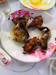 Fried Hilsa at, Padma River, Mini Cox's Bazar,Moinot Ghat, Dohar, Dhaka Bangladesh