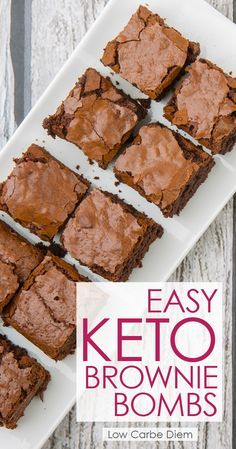 Easy Keto Brownie Bombs #dessert #easy #keto #brownies #bomb