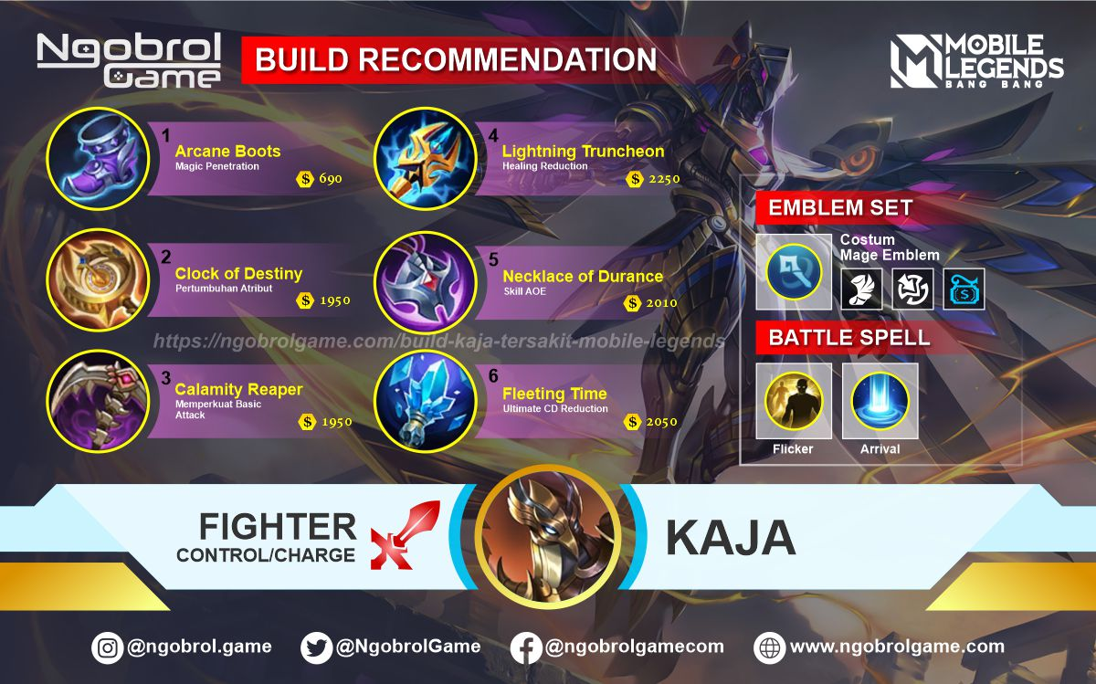 Build Kaja Savage Mobile Legends