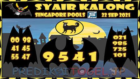 Syair Kalong Togel Singapura Rabu 22-09-2021
